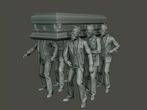 dancing coffin meme 3D