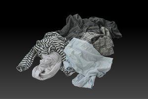 3D model pile cloths