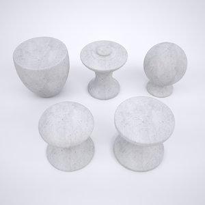 3D knob drawer model