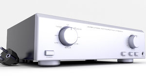 hifi amplifier amp 3D model