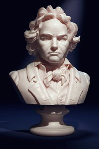 bust beethoven 3D
