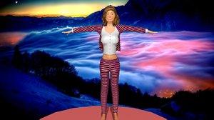 woman suit 3D model