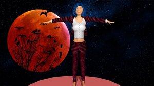 3D woman suit model