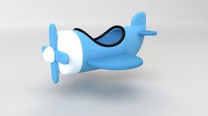 airplane toon plane 3D model