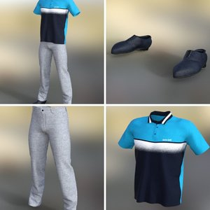 outfit golf casual 3D