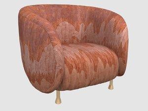 3D lucien chair cascadia saffron
