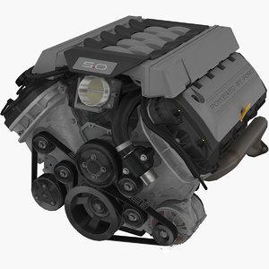 3D coyote 5 0l v8 engine