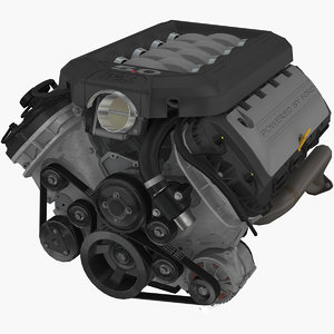 coyote 5 0l v8 engine 3D