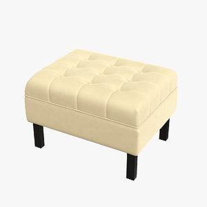pouf interior design 3D model