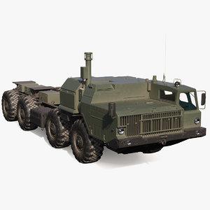 maz 543m 8x8 truck 3D