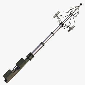 3D telescopic antenna mast