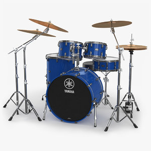 acoustic drum kit 3D model