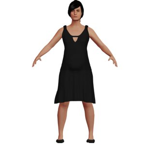 caucasian pregnant woman rigged character 3D