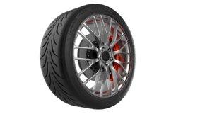 car wheel tire r888 3D