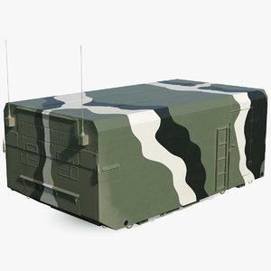 3D camouflage radar cabin