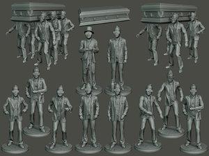 dancing coffin meme pack 3D model
