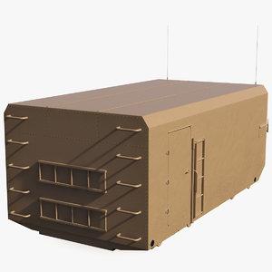 desert radar cabin 3D
