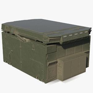 flap lid b missile 3D model