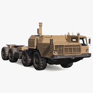 maz 543m 8x8 truck 3D model