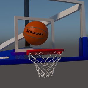 3D model basketball goal basket