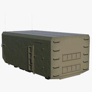 3D radar cabin model