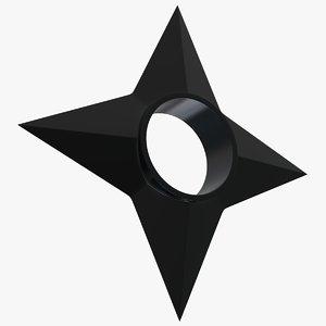 shuriken naruto 3D model