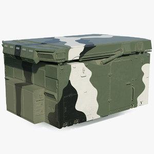 camouflage flap lid b 3D model