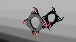 chakram weapon 3D model