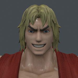 3D model ken street fighter