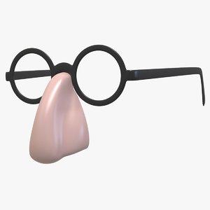 3D groucho marx glasses