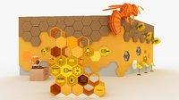 Bee And Hexagon