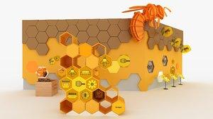 hexagonal bee model