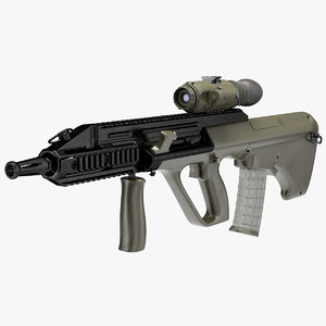 3D bullpup steyr aug thermal model