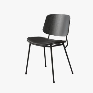 design soborg chair metallic 3D model