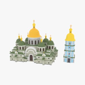 3D model church modeled