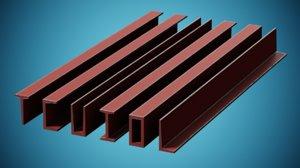 beams building 3D model