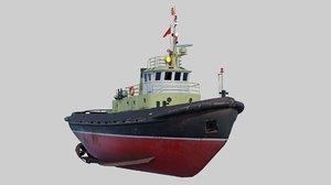 3D tugboats ports harbors model