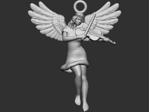 violene playing angel 3D model