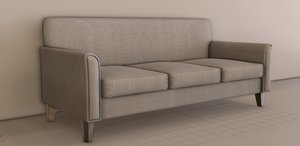 3D model simple sofa interior