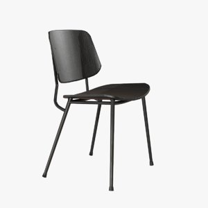 design soborg chair metallic 3D
