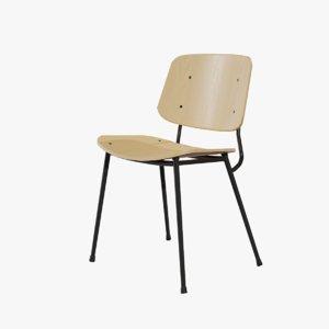 3D design soborg chair metallic