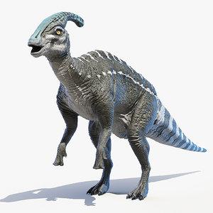 3D parasaurolophus saurolophus model