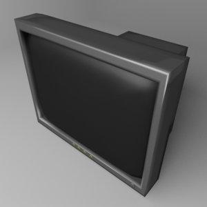 crt monitor 30 inch 3D model