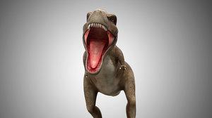 3D giganotosaurus rigged