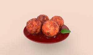 asia food braised pork 3D model