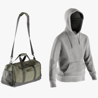 Men's Hoodie with Tshirt, Bag and Cap 9