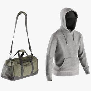 3D realistic men s hoodie