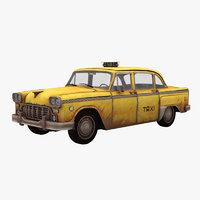 New York Old  Checker Cab