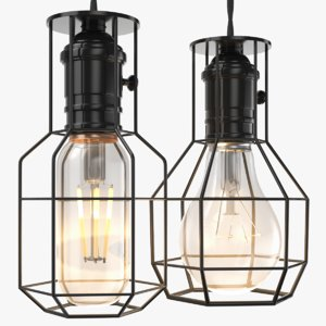 3D real industrial lamps