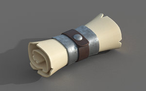 stylized scroll 3D model